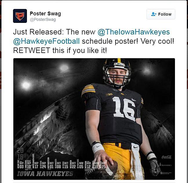 2016 Iowa Football Poster