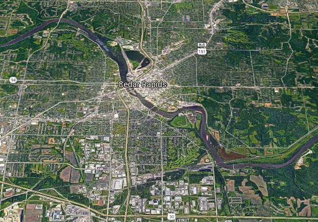 Cedar Rapids Map